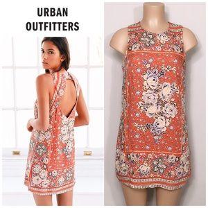 Runs Small! UO Burnt orange floral dress. NWOT